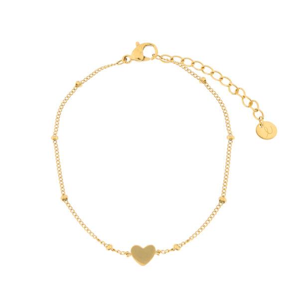 Bracelet-closed-heart-gold