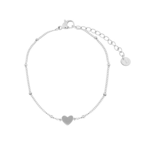 Bracelet-closed-heart-silver