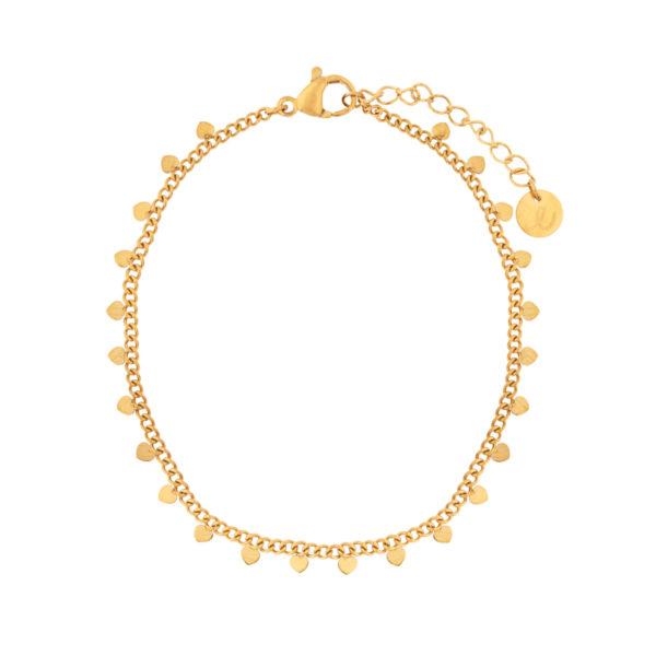 Bracelet-hearts-gold