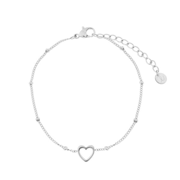 Bracelet-open-heart-silver