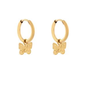 Oorbellen minimalistic butterfly