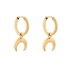 Oorbellen minimalistic horns