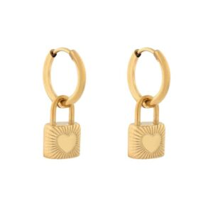 Oorbellen minimalistic lock