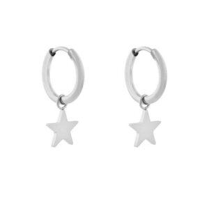 Oorbellen minimalistic star large