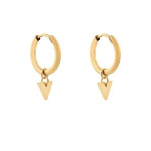 Oorbellen minimalistic triangle small