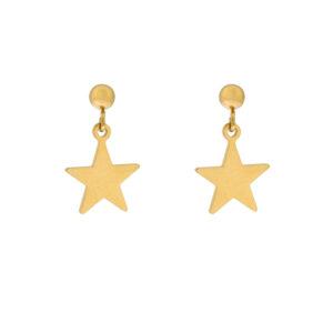Stud oorbellen met ster