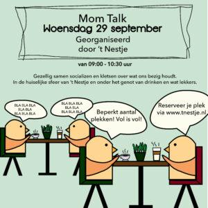 Mom Talk – Woensdag 29 september 09:00 – 10:30 uur