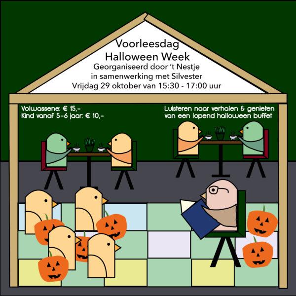 Halloween week voorleesdag middag