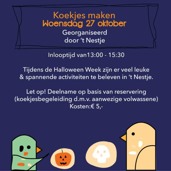 Koekjes maken woensdagmiddag 27 oktober
