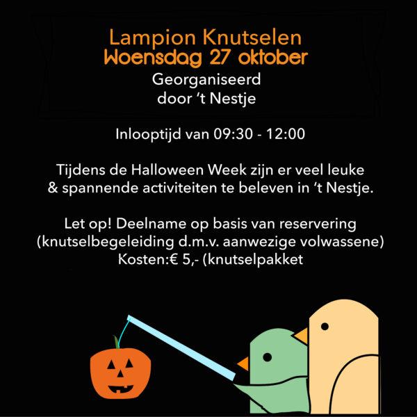 Lampion knutselen woensdagochtend 27 oktober